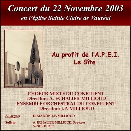 Concert à Sainte Claire de Vauréal (2003)