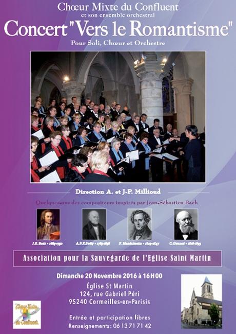 """Concert """"Vers le Romantisme"""" Cormeilles 2016"""