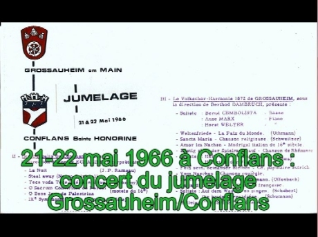 Jumelage Grossauheim/Conflans en 1966