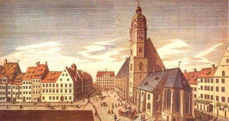 L'école Saint-Thomas de Leipzig (dessin de Mendelssohn)