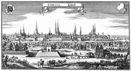 La cité impériale de Lübeck (1641)
