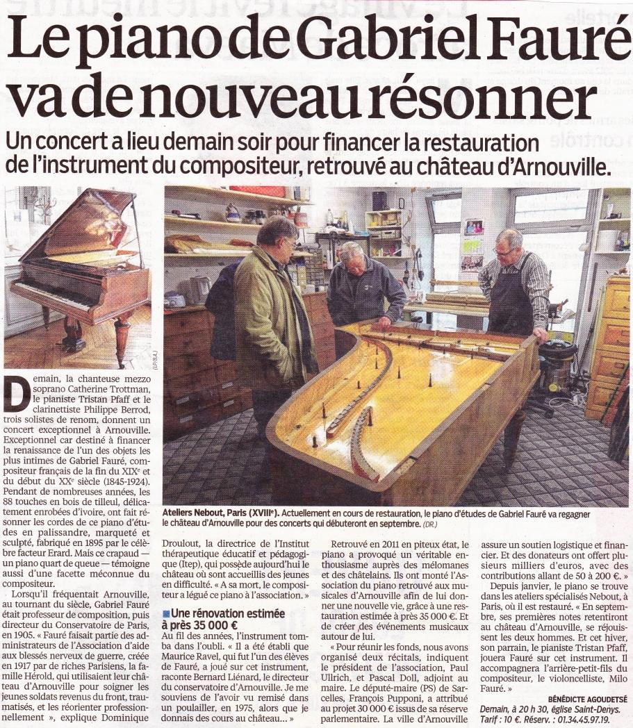 Le piano de G. Fauré