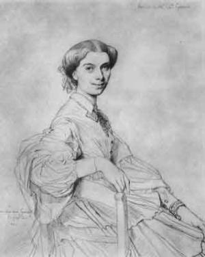 Anna Zimmerman (dessin de Ingres)