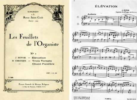 Partition: Élévation pour orgue