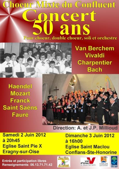 Affiche du concert du Jubilé ( 50 ans )