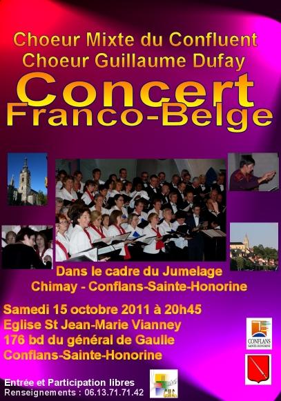 Affiche du concert Franco-Belge - 2011