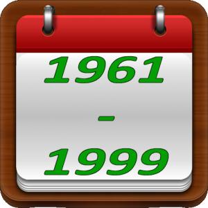 De 1961 à 1999